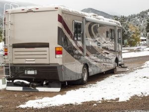 motorhomes in winter